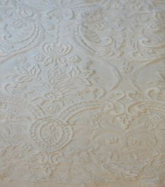 Bridal Inspirations™ Scroll Mesh Embellished Fabric-Bright Whitenull