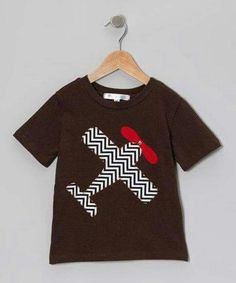 Love this Brown Chevron Airplane Tee - Infant, Toddler & Boys by mini scraps on Sewing Projects For Kids, Sewing For Kids, Kids Fashion Boy, Toddler Fashion, Fabric Paint Shirt, Boys Shirts, T Shirts For Women, Toddler Boys, Infant Toddler