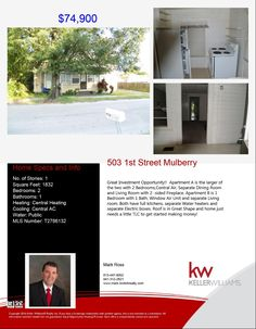 Call me if you are thinking about investing in Real Estate!