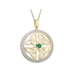 ETERNAL MOMENTS 9ct 9K Yellow Gold Green Stone Set Claddagh Bangle Bracelet