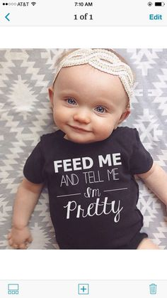 Oh My Gosh!  We can match!  3 DAY BLOWOUT Baby Girl clothes feed me and tell me im by LineLiam