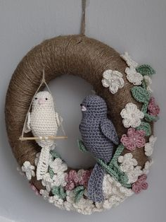 Custom made crochet wreath. #Crochetwreath