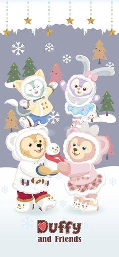 Disney Phone Wallpaper, Cartoon Wallpaper Iphone, Friends Wallpaper, Soft Wallpaper, Bear Wallpaper, Disney Cartoon Characters, Disney Cartoons, Duffy The Disney Bear, Disney Christmas