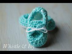 Baby Boat Shoe Booties Crochet Pattern - YouTube