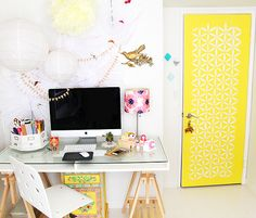 workspace / desk / yellow