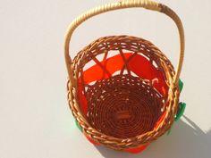 Vintage wicker basket as a new enters to take door VintageItalyShop, $2.50