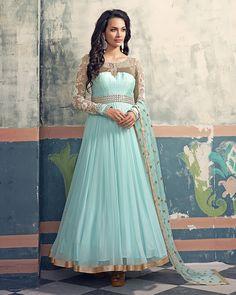 Palkhi Inc - Sky Blue Floor Length Anarkali Suit (D0313), $244.00 (http://www.palkhi.com/sky-blue-floor-length-anarkali-suit-d0313/)