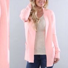 I just discovered this while shopping on Poshmark: Blush Pocket Open Cardigan. Check it out! Price: $32 Size: L