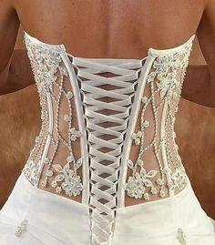 Wedding dresses for 2013 ❤ 2014 bridal corset, wedding lingerie, wedding dr Motif Corset, Corset Pattern, Wedding Lingerie, Wedding Gowns, Bridal Corset, Wedding Corset, Lace Wedding, Honeymoon Lingerie, Trendy Wedding