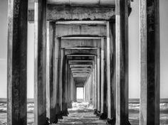"""Beneath the Pier"" modern home decor by photographer Danny Englander for GreenBox Art + Culture $249"