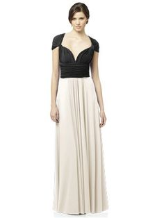 Dessy twist wrap dress