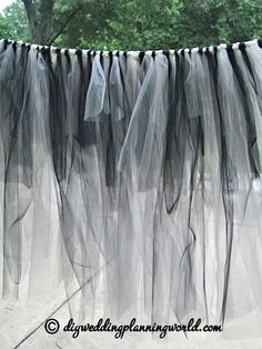 Gothic Tulle Skirt 2 DIY For The Cake Table Part 3