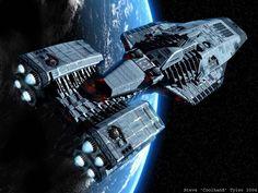 Space Battleship in Orbit