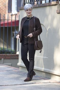 Dear Stitch Fix Stylist - I love this whole look..so sleek.  Really like the brown and black color combo.                                                                                                                                                                                 More