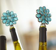 Pretty Wine Stoppers make great parting gifts for guests.