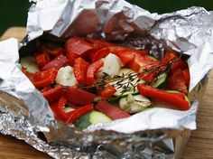 Butter-Herb Grilled Summer Veggie Packet - Summer veggies are grilled to crisp-tender, buttery perfection. Yum!