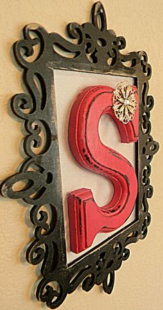 Monogram Wall Initial by laceNboots on Etsy, $29.99 by lea
