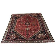 Shiraz Persian Rug - 4′10″ × 6′6″ ($1,100) ❤ liked on Polyvore featuring home, rugs, persian style rugs, persian rugs, persian style area rugs and persian area rugs