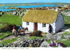 inch Photo Puzzle with 252 pieces. (other products available) - Thatched Cottage, Connemara, County Galway, Republic of Ireland. Date: - Image supplied by Mary Evans Prints Online - Jigsaw Puzzle made in the USA Connemara Ireland, Galway Ireland, Cork Ireland, Into The West, Irish Cottage, Thatched Roof, Studios, Republic Of Ireland, Photo Mugs