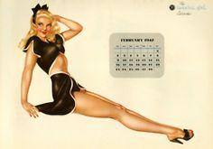 Pin Up Girl Poster Alberto vargas Varga Esquire calendar February 1947 February Calendar, Vintage Calendar, Calendar Girls, Pin Up Girls, These Girls, Metro Goldwyn Mayer, Vargas Girls, Girl Posters, Hollywood Actresses