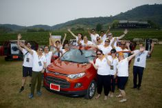 The EcoSport Drive team in Hua Hin, Thailand. Follow the link to read my review of the Ecosport http://jennievickers.wordpress.com/2014/03/25/ford-ecosport-review/ #EcoSport #EcoSportDrive #Ford #JennieVickers #Zeopard