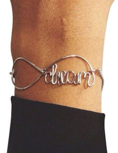 Custom Infinity Bracelet with Wire and Chain