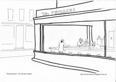 Edward hopper Coloring pages and