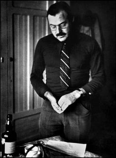 VALENCIA, Spain—U. writer and journalist Ernest Hemingway in his hotel room before leaving for the front, December Ernest Hemingway, Writers And Poets, Writers Write, Books To Read, My Books, Nobel Prize In Literature, Latest Generation, Magnum Photos, Book Authors