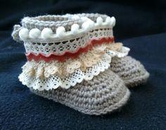 Botas étnicas en crochet. x