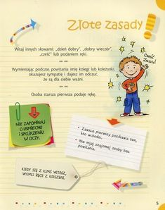 Zasady złote. Educational Crafts, Montessori, Place Cards, Parenting, Place Card Holders, English, Organization, School, Day