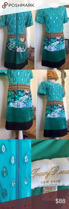 Tracy Reese NY Couture Frock Love ❤️ This!! New, never worn multi textured with luxury fabrics and trim dress. Store/boutique tags have been removed. Size 8. Favorite designer of Michelle Obama: easy to see why! Tracy Reese Dresses