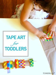 Tape art with Colorful tape, clear tape, paper tape: young children will enjoy…