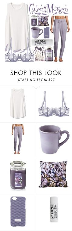 """""""Guten Morgen..."""" by sanela-enter ❤ liked on Polyvore featuring Gap, Cosabella, Yankee Candle, Jessica Wilde, Ted Baker, Origins and Haze"""