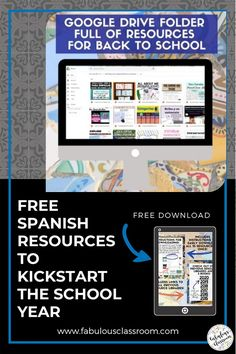 Do you need a little help getting ready to head back into the classroom? Don't worry, we've got you covered! This amazing Back to School Resource Library for Secondary Spanish has 27 resources, perfect for back to school! There is also an Elementary Resource Library, as well as a surprise you do not want to miss! #teacher #teaching #backtoschool #education #teachers #spanishteacher #spanishlessons #spanishlearning Spanish Lessons For Kids, Spanish Teaching Resources, Spanish Lesson Plans, School Resources, Teacher Resources, Homeschooling Resources, School 2017, Lesson Plan Templates, Back To School