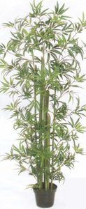 One 6 Foot Artificial Green Bamboo Tree Potted *** Details can be found by clicking on the image.