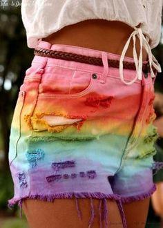 Rainbow shorts<3<3
