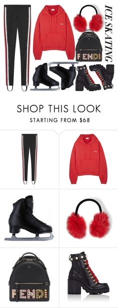 """""""ice skating"""" by ecem1 ❤ liked on Polyvore featuring Gucci, RE/DONE, Steve Madden, Fendi and iceskatingoutfit"""