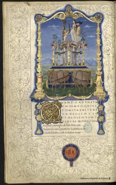Miniature from the Poetic Works by Francesco Petrarca