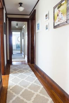 The Best Coastal Paint Colors I Finding Silver Pennies - Muslin in our Hallway