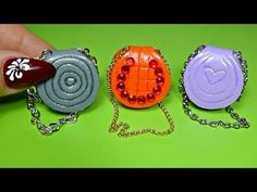 DIY Realistic Miniature Bags - No Polymer Clay - easy Miniature crafts - YouTube
