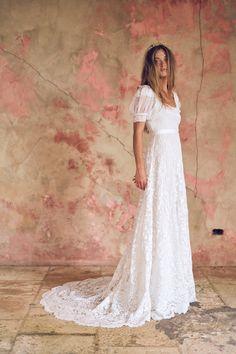 Dream Wedding Dresses, French Wedding Dress, 70s Wedding Dress, Bohemian Wedding Gowns, Victorian Wedding Dresses, Short Sleeved Wedding Dress, Vintage Boho Wedding Dress, Short Girl Wedding Dress, Mormon Wedding Dresses