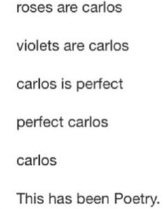 Oh Carlos, perfect Carlos