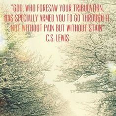 C.S. Lewis. I have never heard this one from him. (Thought I'd heard all his quotes) I LOVE this.