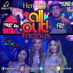 ALL OUT FRIDAY tonight at Guilly's spicin up for you with DJ Ariel on primetime with MC W on the mic! Plus, the Feisty Girls, Romacel, Iya and Thonie!!! Top 40's / EDM / Trap / Hiphop & RnB all night! For Reservations: Please call 0915-1212569 #no1clubupnorth #wheninmanila #guillysnightclub #Trifecta #guillysalloutfridays #hup #urbnrev #teamlaban #teamahit #guillyspilipinas #bosst #feistygirls #cheapersproduction #manilanightlife #manilafm #Manila #nightlife #TheManilaExplorer