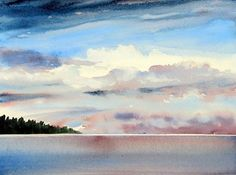 """HIGH CEILING by Enda Bardell Watercolour ~ 16"""" x 20"""""""
