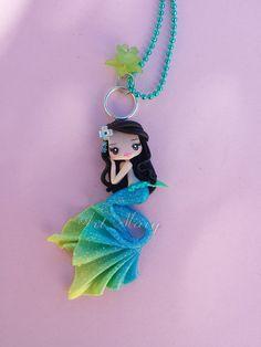 Meerjungfrau blau Fimo Fimo von Artmary2 auf Etsy