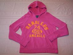 American Eagle Womens Juniors Sweatshirt Hoodie Pink Orange Size Medium M | eBay