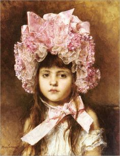 Hat, wearing a little girl. AHarlamoff