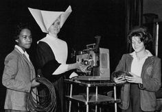Immaculate Conception Academy Washington DC 1963 Daughter of Charity with the movie projector and student assistants | Flickr - Photo Sharing!