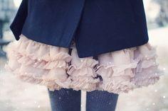 winter winter winter #ruffle #skirt #outfit